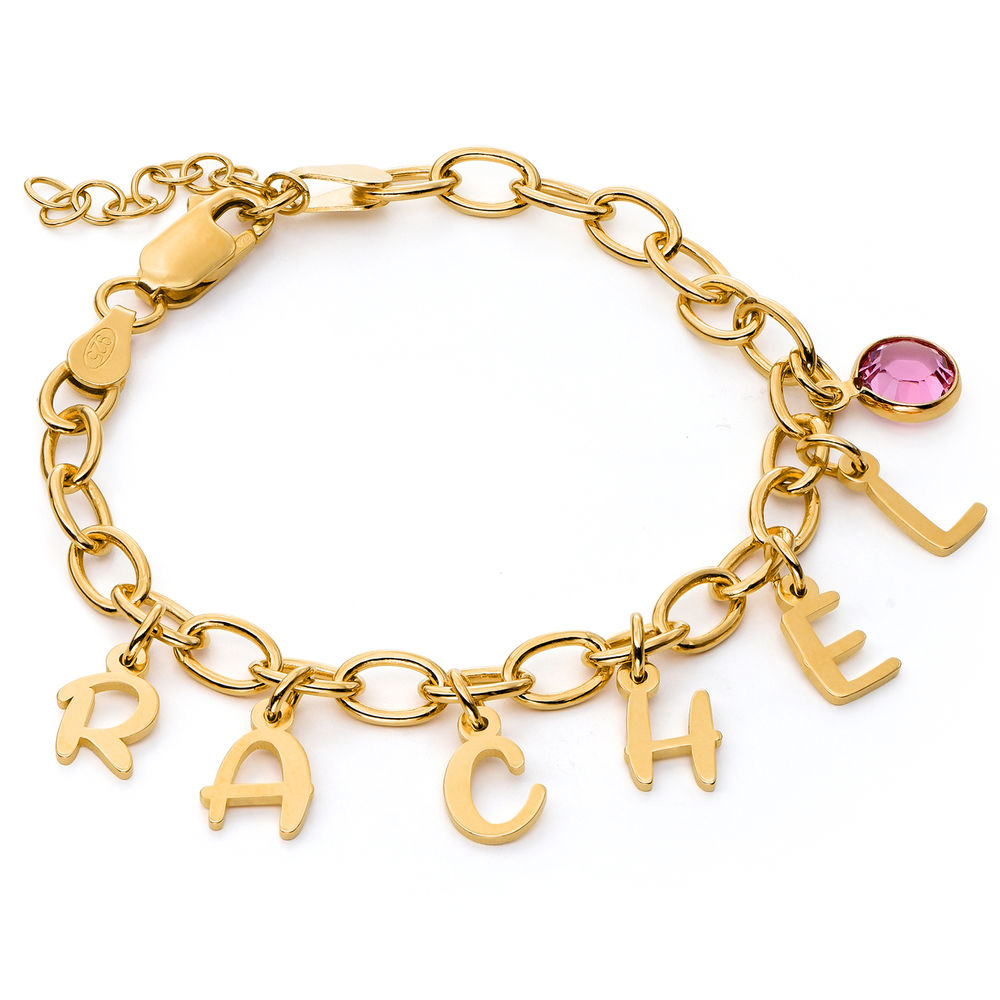 Letter Charm Bracelet for Girls in Gold Plating