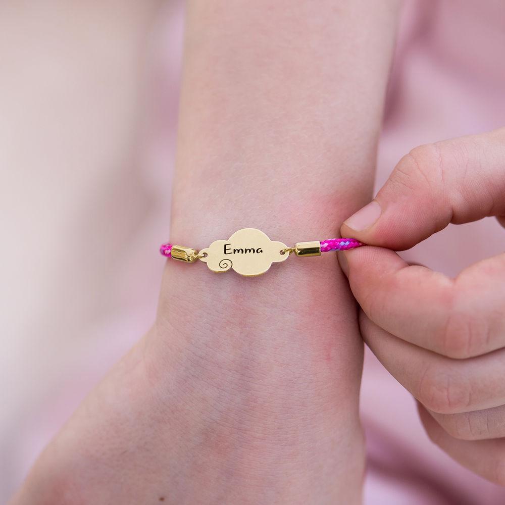 Cloud Cord Bracelet in Gold Plating - 3