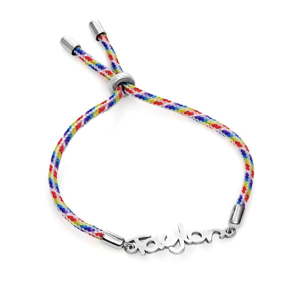 Name Cord Bracelet for Kids in Sterling Silver