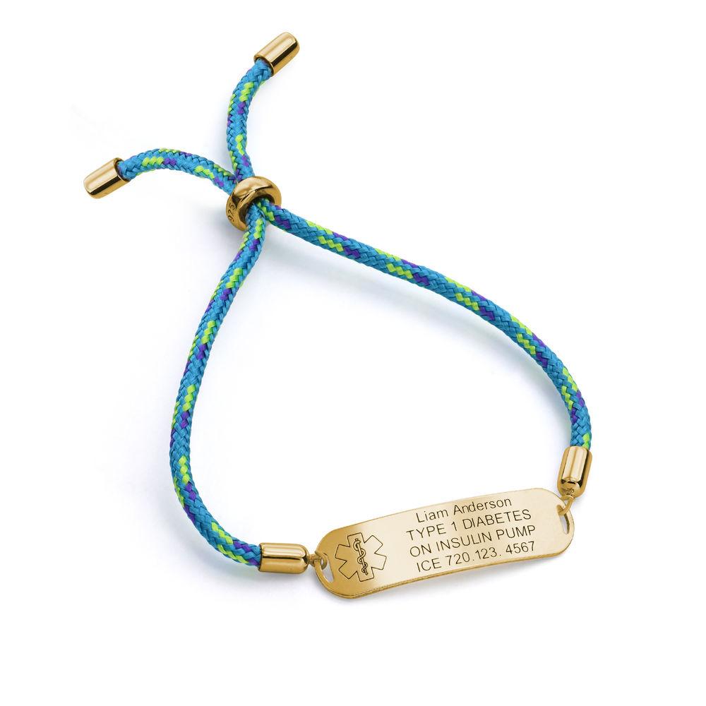 Medical ID Bracelet for Kids in 18K Gold Plating