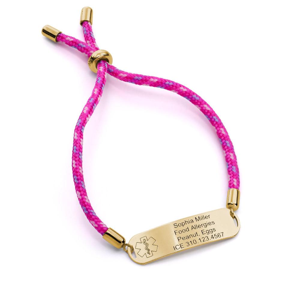 Medical ID Bracelet for Kids in 18K Gold Plating - 1