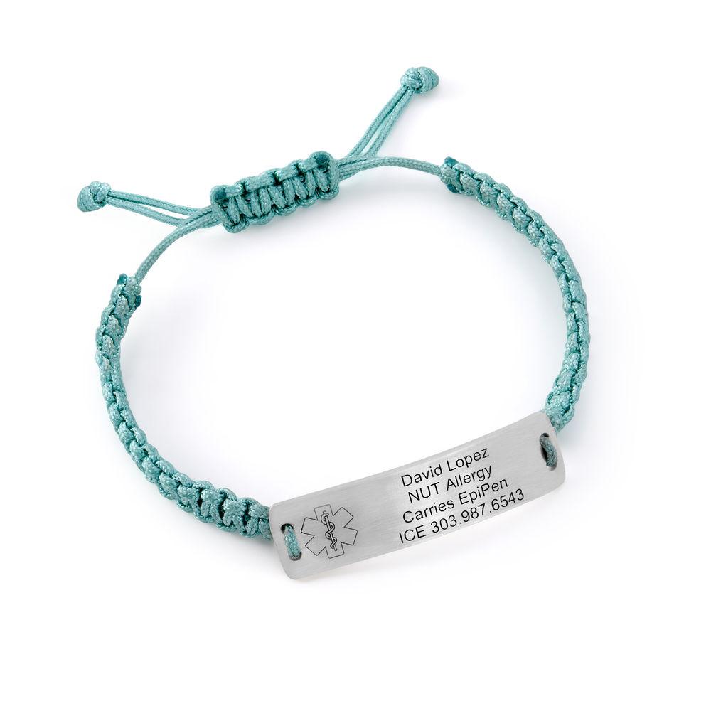 Kids Medical Alert Bracelet for Boys in Sterling Silver