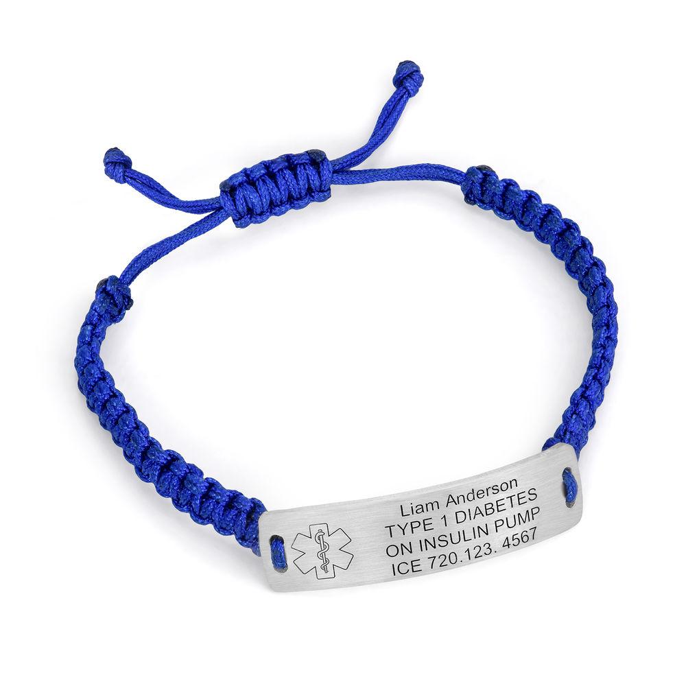 Kids Medical Alert Bracelet for Boys in Sterling Silver - 1