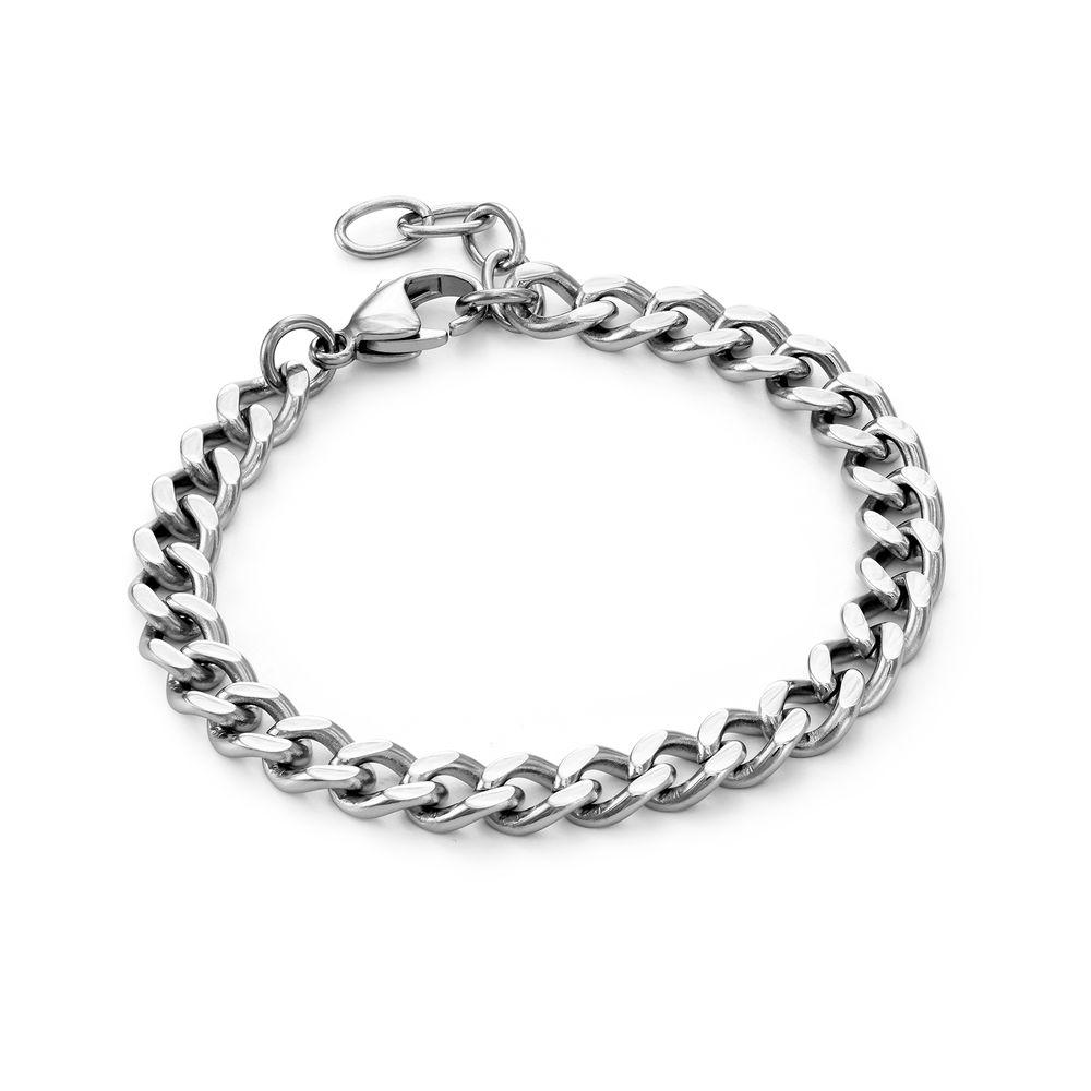 Harper Cuban Link Bracelet in Stainless Steel