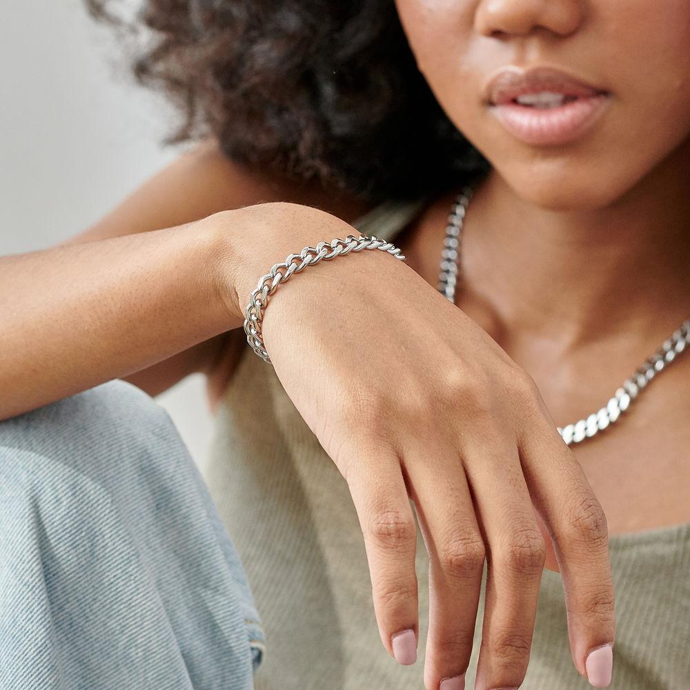 Harper Cuban Link Bracelet in Stainless Steel - 2
