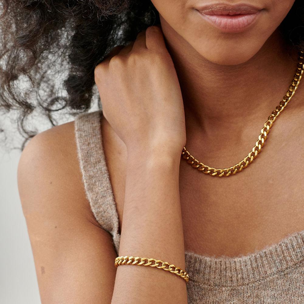 Harper Cuban Link Bracelet in Gold Plating - 2
