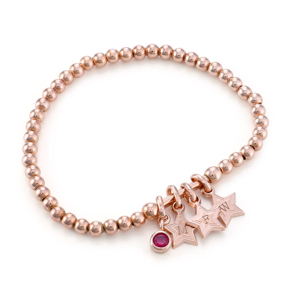 Having a Ball Bracelet with Custom Charms in Rose Gold Plating
