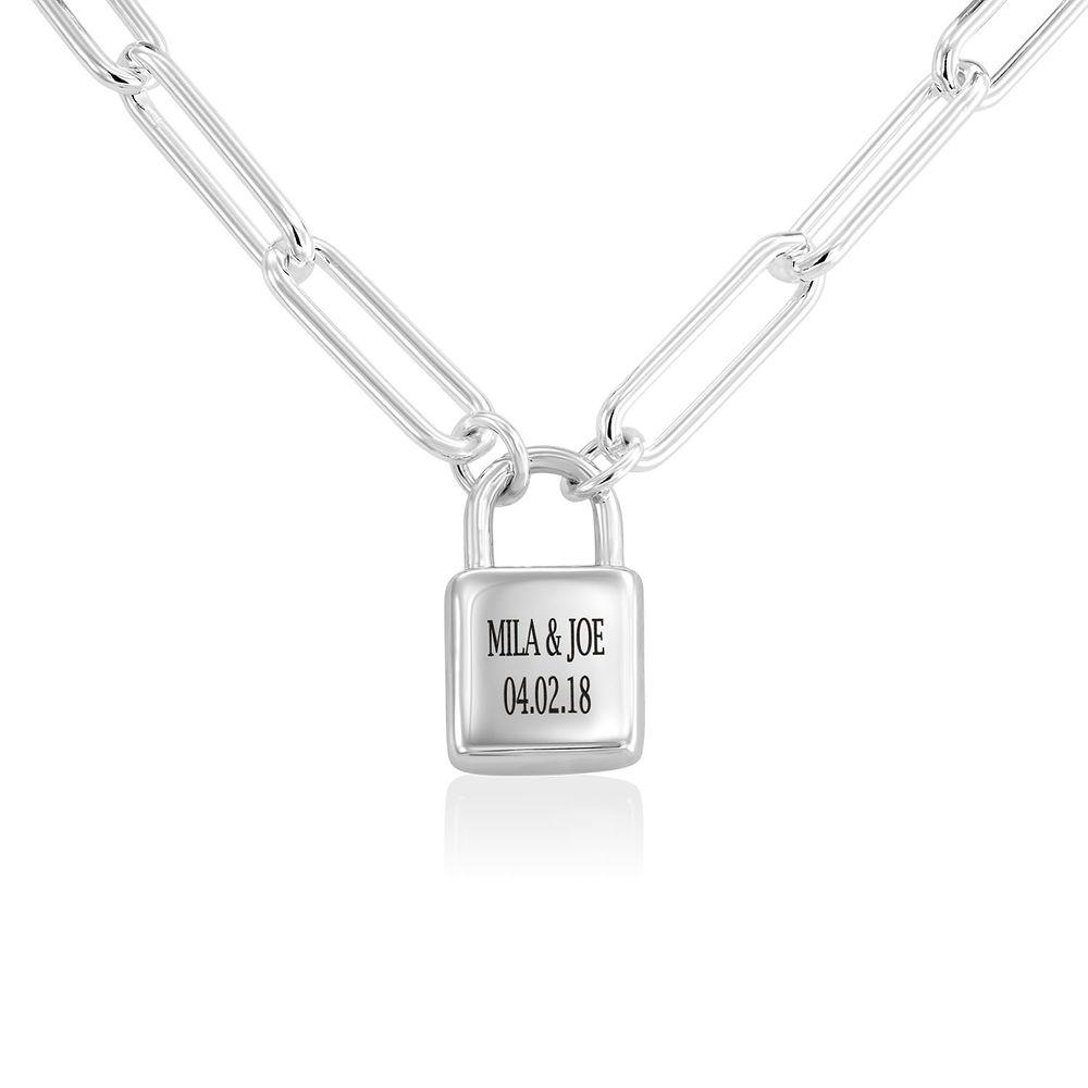 Allie Padlock Link Bracelet in Sterling Silver - 1