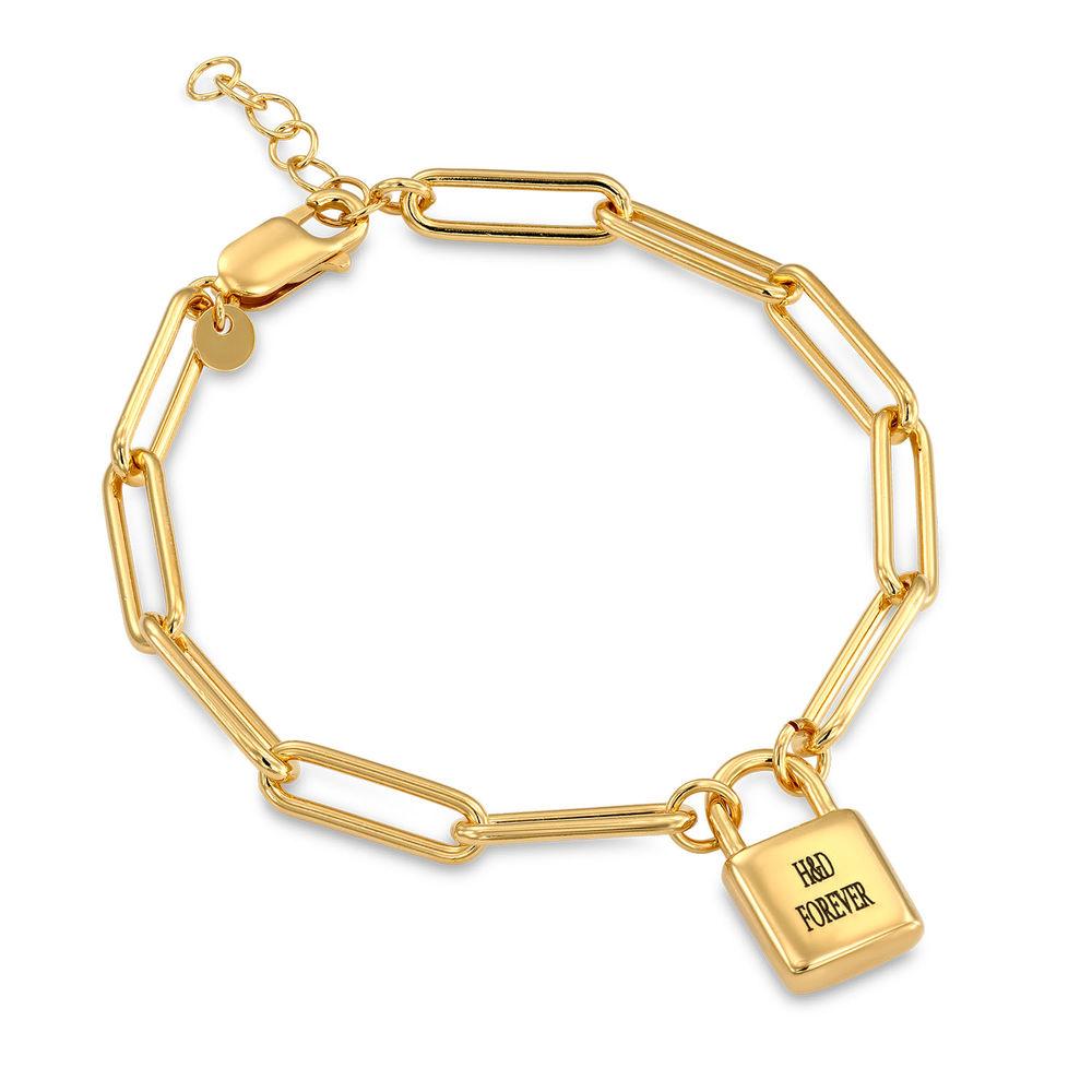 Allie Padlock Link Bracelet in Gold Vermeil