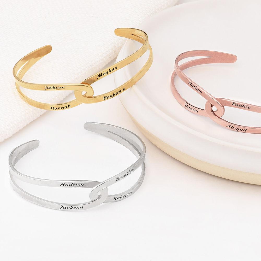 Hand in Hand- Custom Bracelet Cuff in Sterling Silver - 3