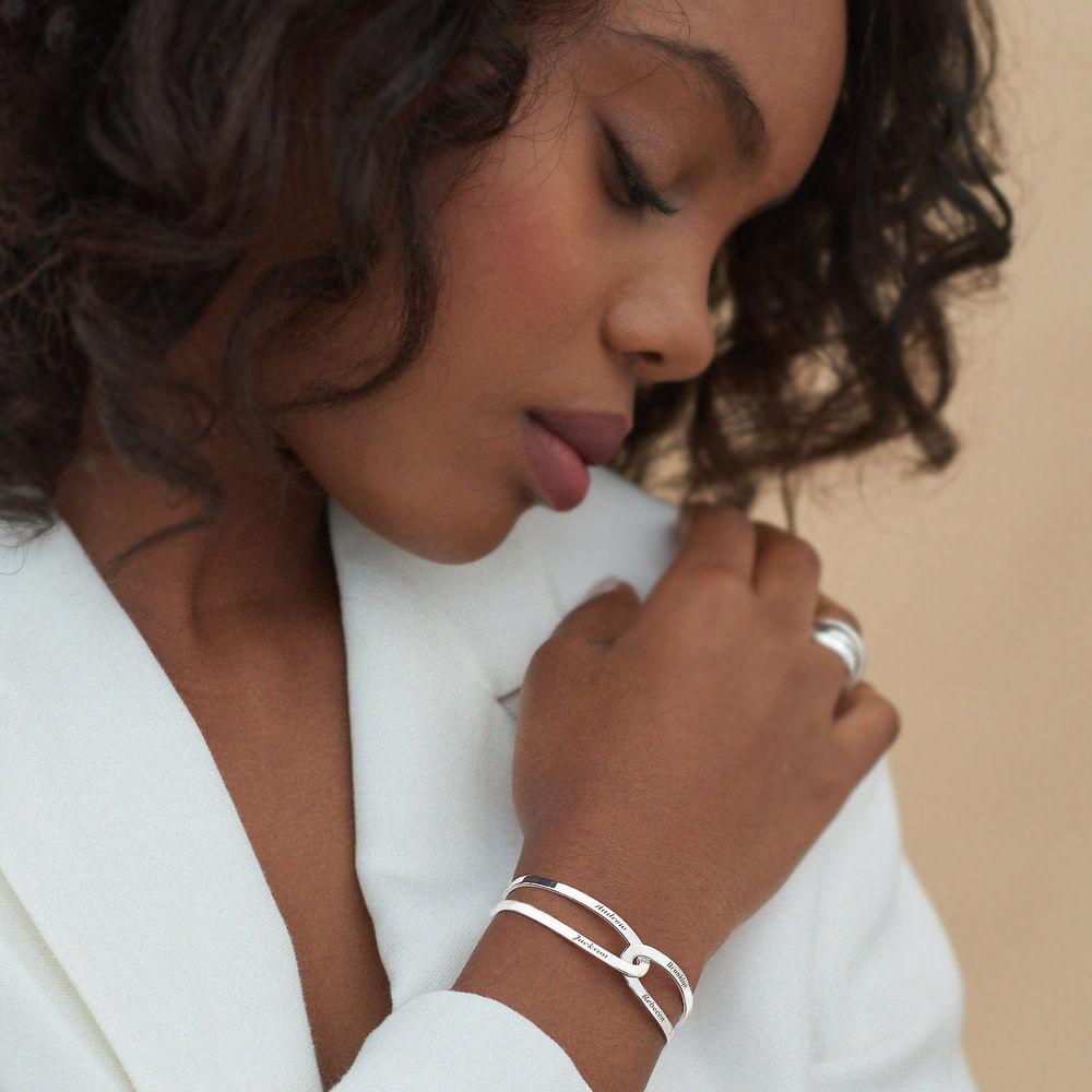Hand in Hand- Custom Bracelet Cuff in Sterling Silver - 4