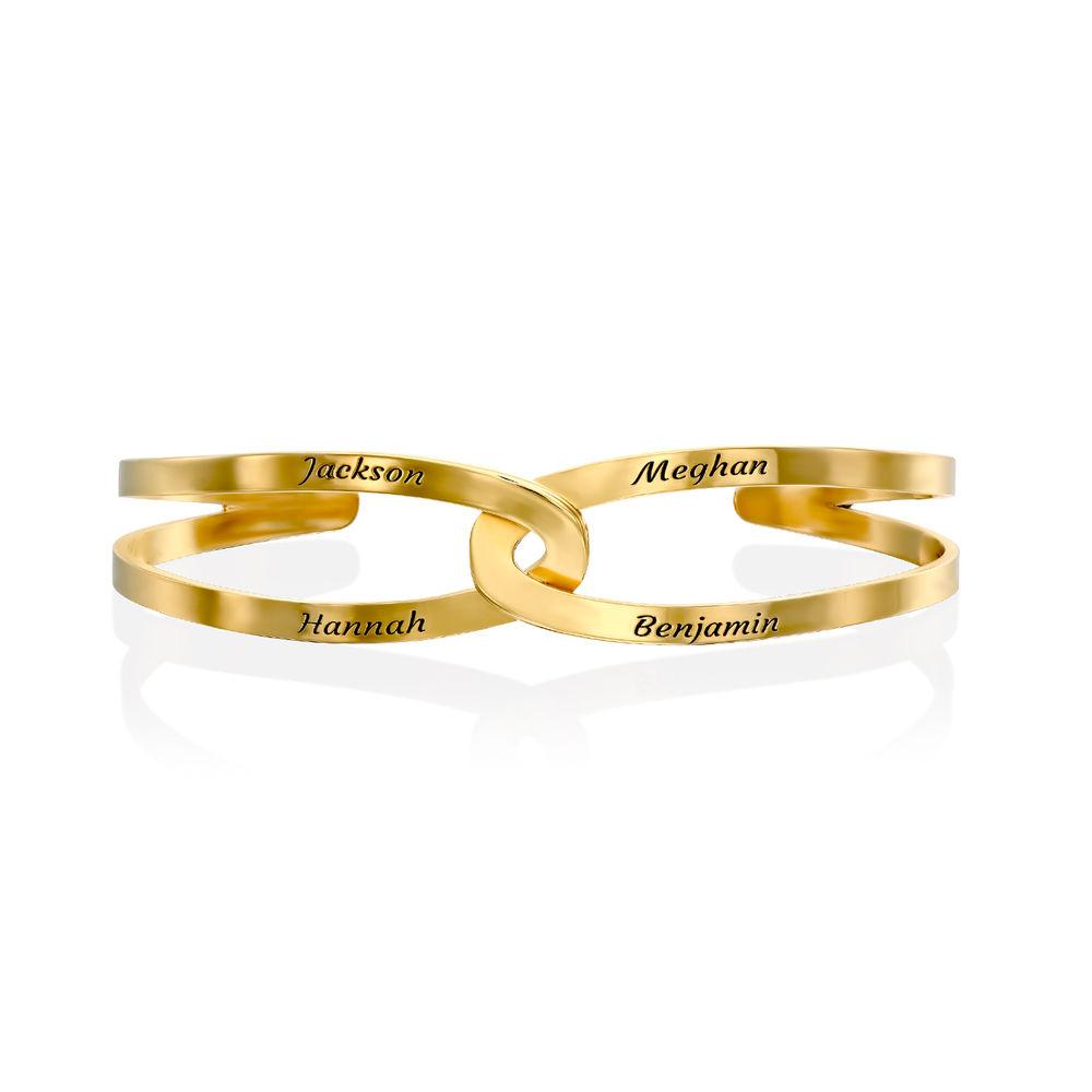 Hand in Hand - Custom Bracelet Cuff in Gold Plating - 2