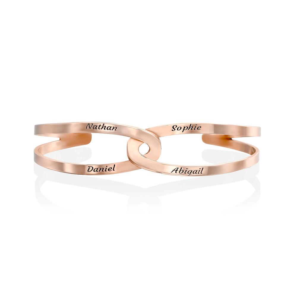Hand in Hand - Custom Bracelet Cuff in Rose Gold Plating - 2