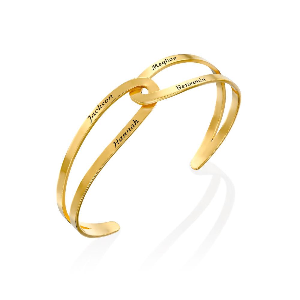 Hand in Hand - Custom Bracelet Cuff in Gold Vermeil - 1
