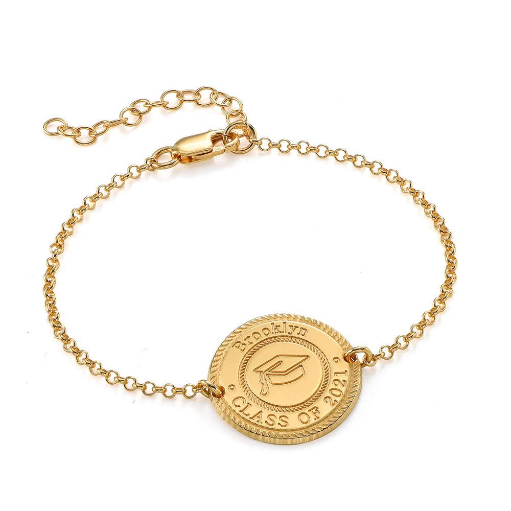Graduation Cap Personalized Bracelet in Gold Plating