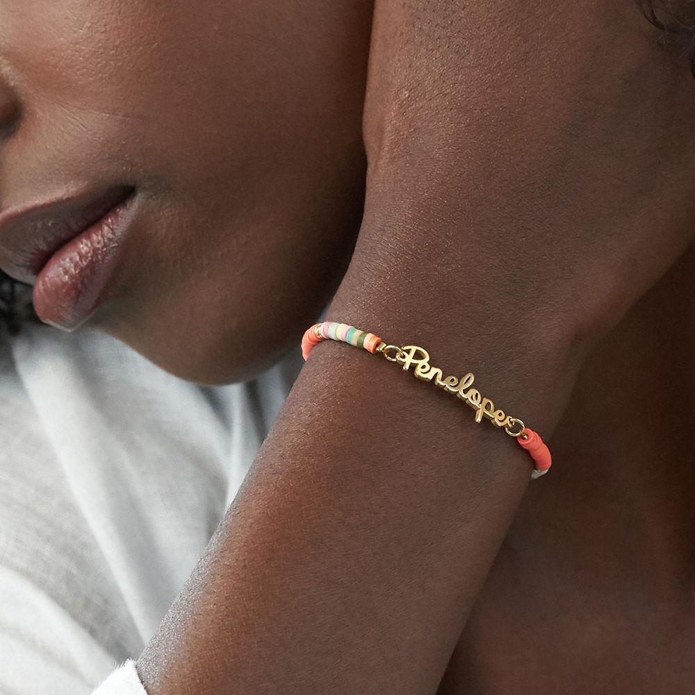 Sweet & Sour Name Bracelet in Gold Plating  - 3