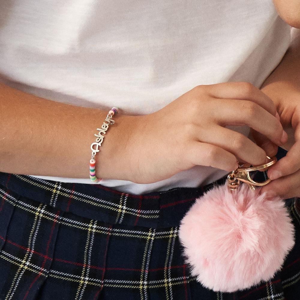 Rainbow Magic Girls Name Bracelet in Sterling Silver - 2