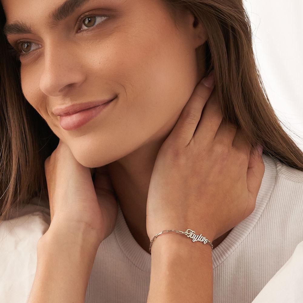 Custom Paperclip Name Bracelet/Anklet in Sterling Silver - 2