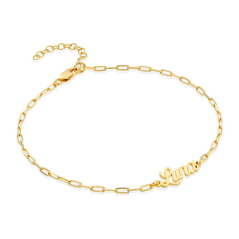 Costume Paperclip Name Bracelet/Anklet in Gold Vermeil