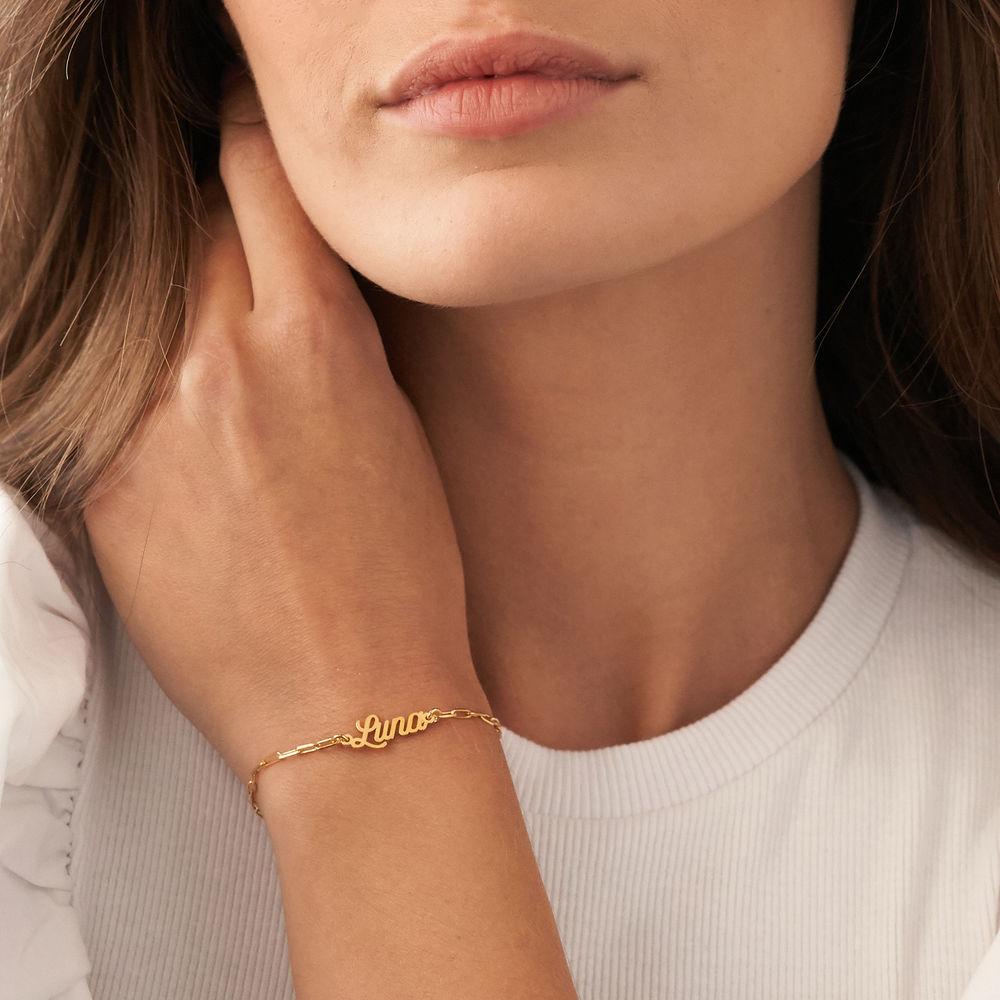Custom Paperclip Name Bracelet/Anklet in Gold Vermeil - 2