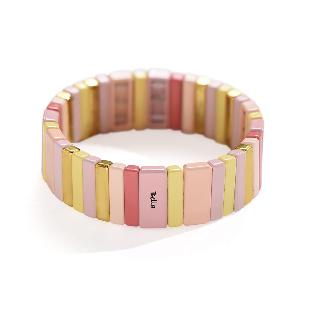 Carnival Tile Bead Bracelet with Names