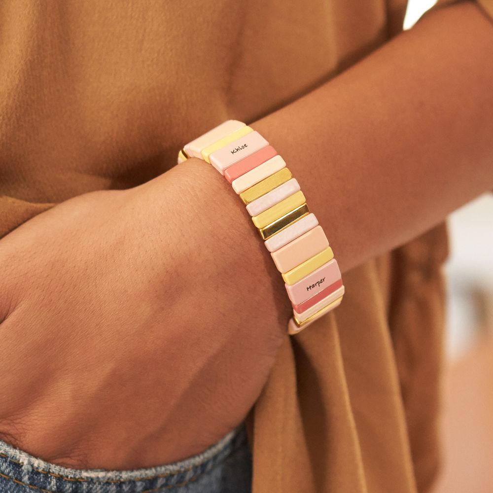 Carnival Tile Bead Bracelet with Names - 2