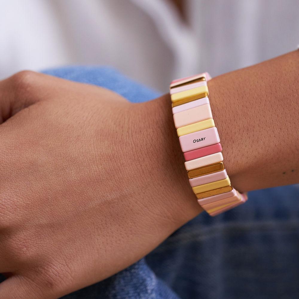 Carnival Tile Bead Bracelet with Names - 3