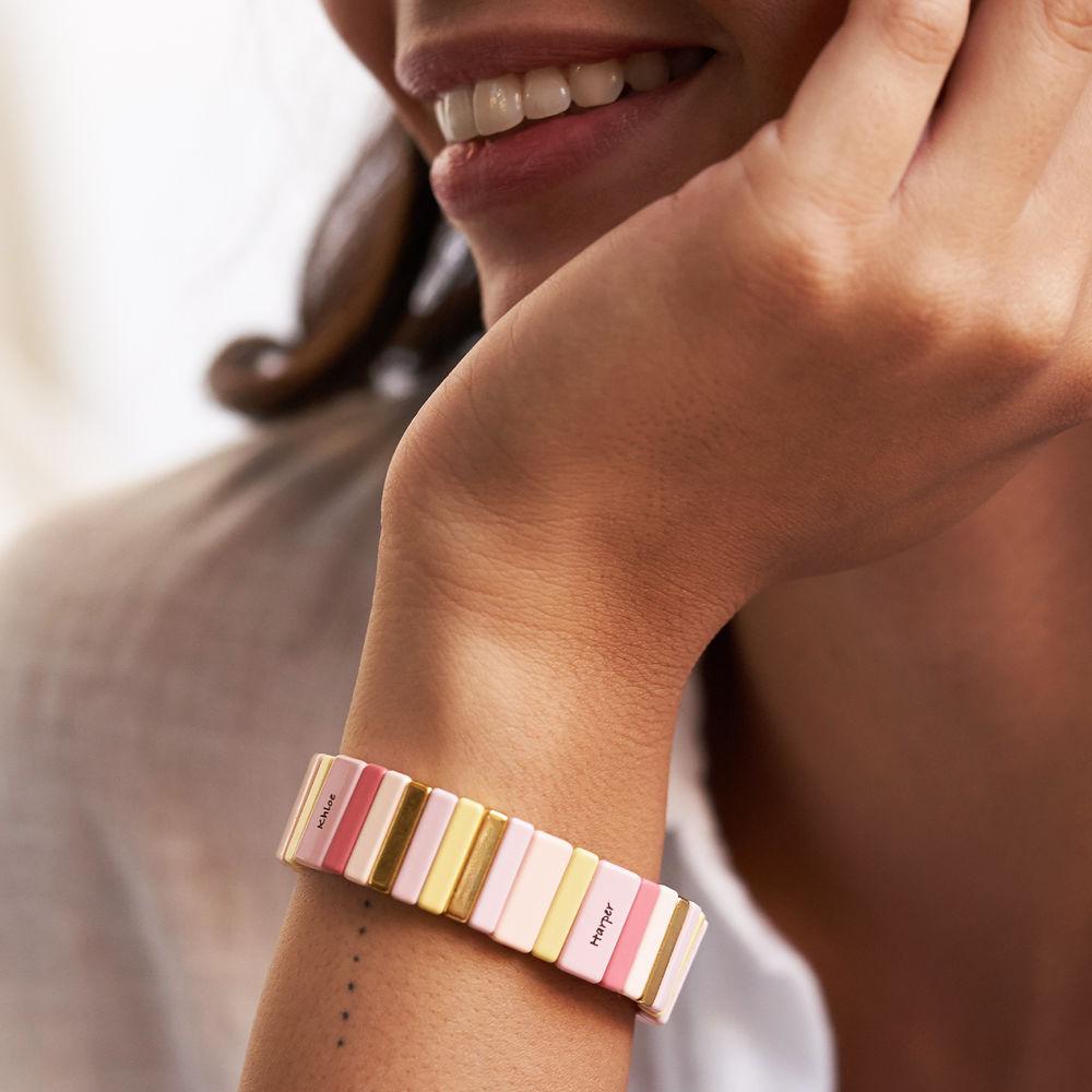 Carnival Tile Bead Bracelet with Names - 4