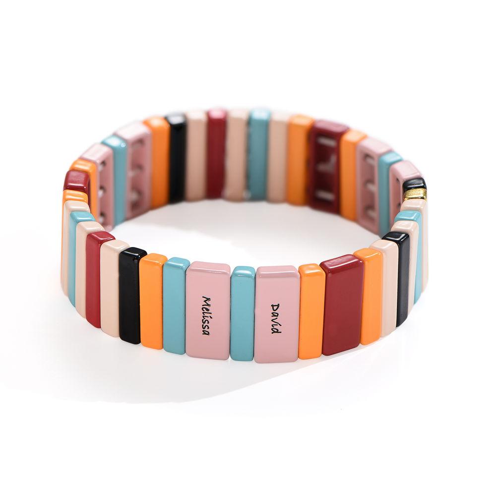 Over the Rainbow Tile Bead Bracelet