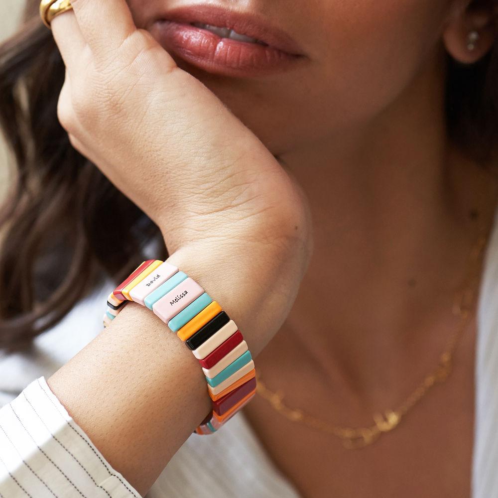 Over the Rainbow Tile Bead Bracelet - 2
