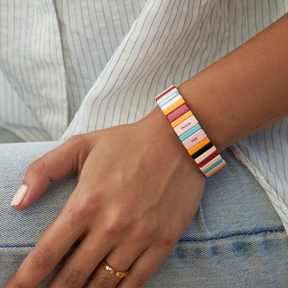 Over the Rainbow Tile Bead Bracelet - 3