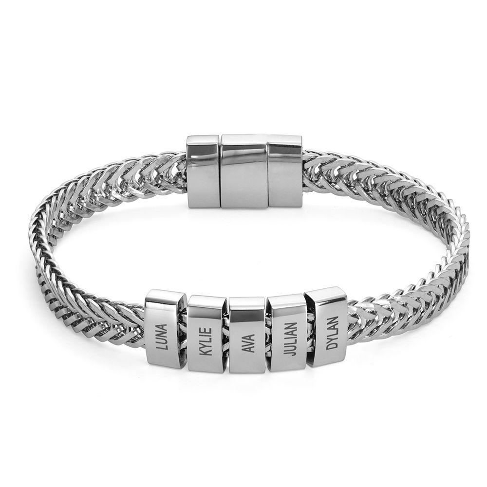 Elements Men's Beads Bracelet in Sterling Silver