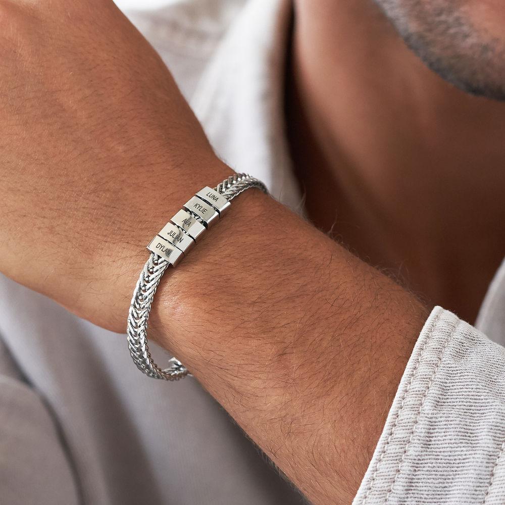 Elements Men's Beads Bracelet in Stainless Steel - 2
