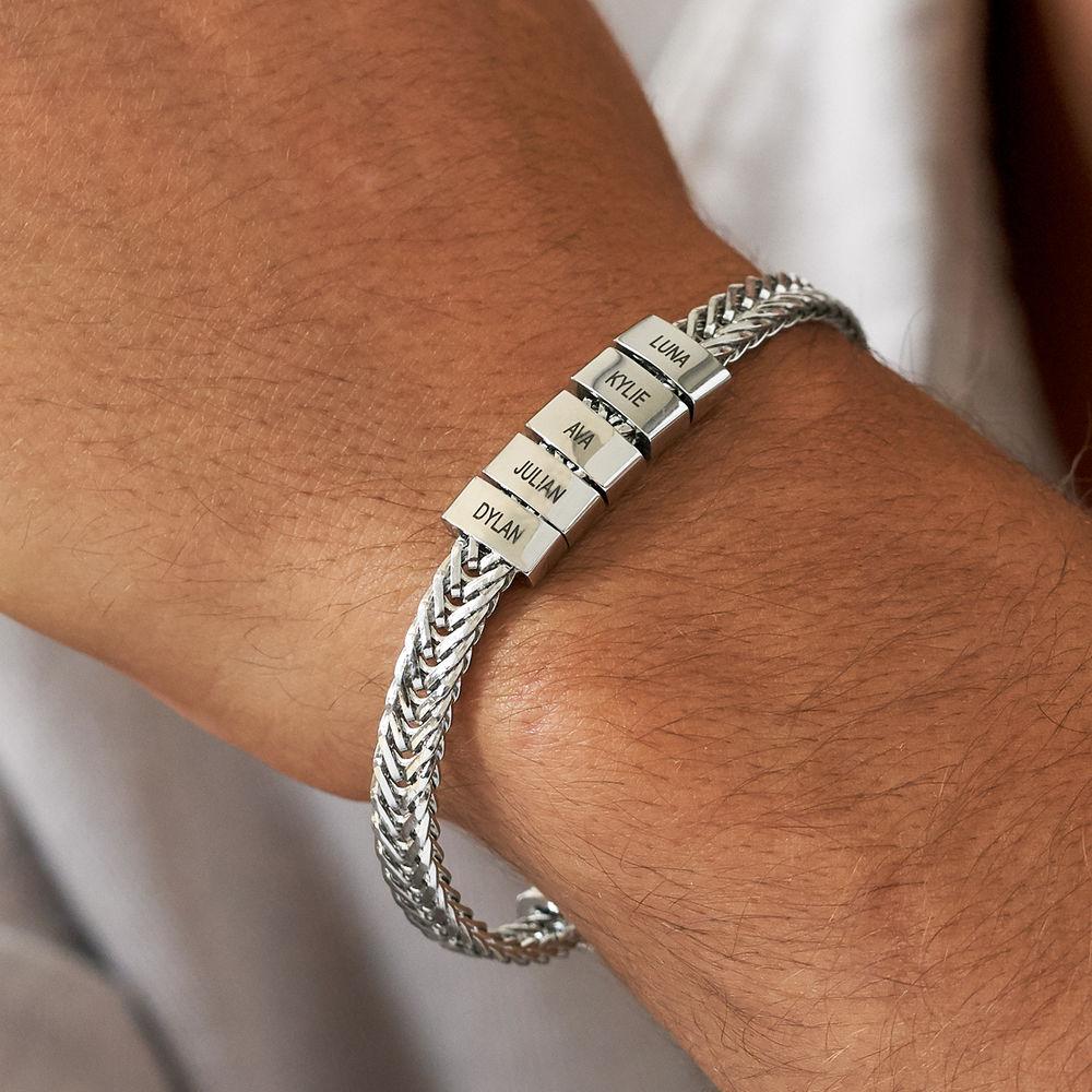 Elements Men's Beads Bracelet in Stainless Steel - 3