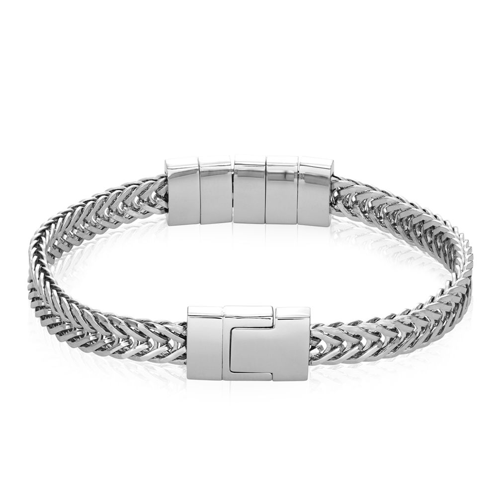 Elements Men's Beads Bracelet in Stainless Steel - 5