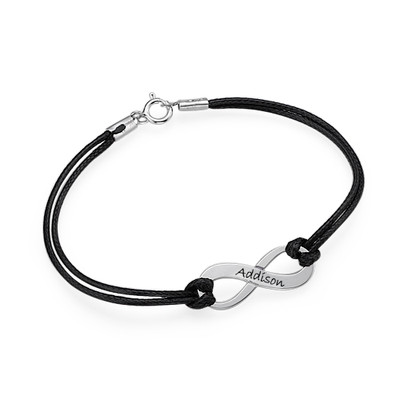 Infinity Symbol Bracelet Engraved with Name