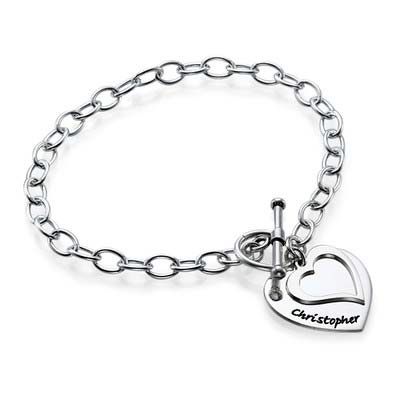 Double Heart Charm Bracelet - 1