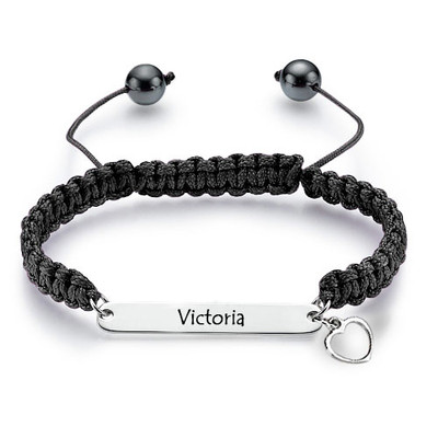 Engraved ID Friendship Bracelet