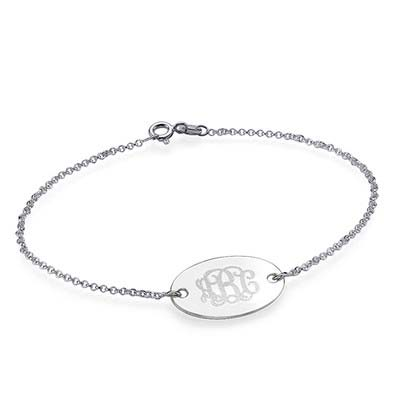 Engraved Oval Monogram Bracelet