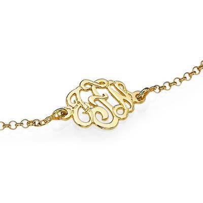 Premium Monogram Bracelet in Gold Plating - 1