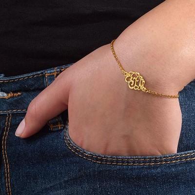 Premium Monogram Bracelet in Gold Plating - 2