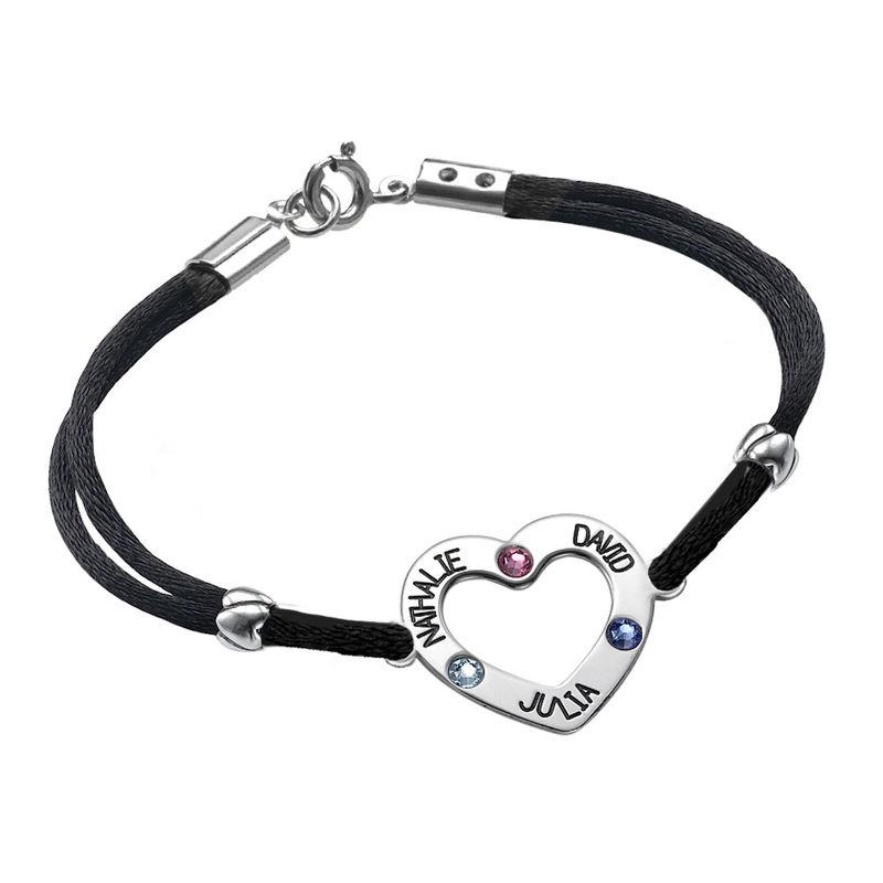 Heart Bracelet with Birthstones