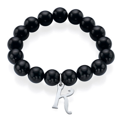 Bead Bracelet with Initial