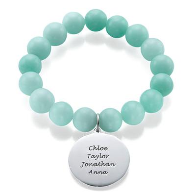 Beaded Bracelet with Family Tree Charm - 1