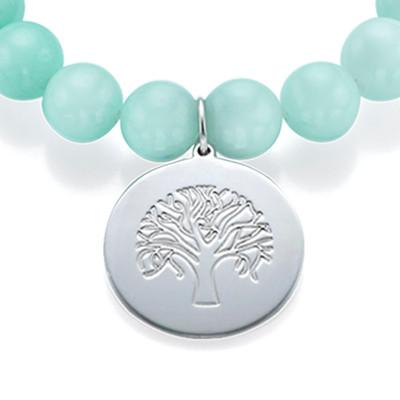 Beaded Bracelet with Family Tree Charm - 2