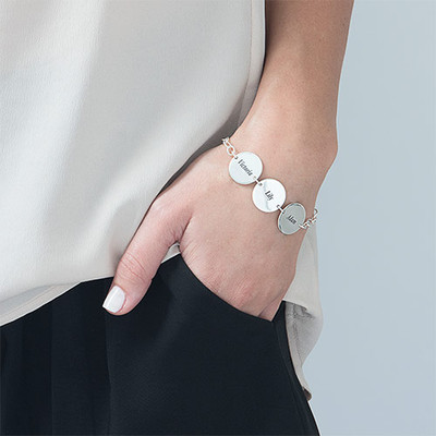 Special Gift for Mom - Disc Name Bracelet - 2