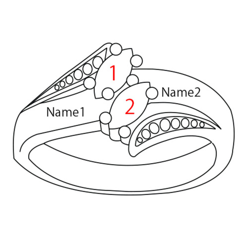 Personalized Birthstone Ring - 4