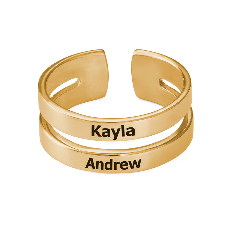 Two Name Ring in Gold Vermeil - 1