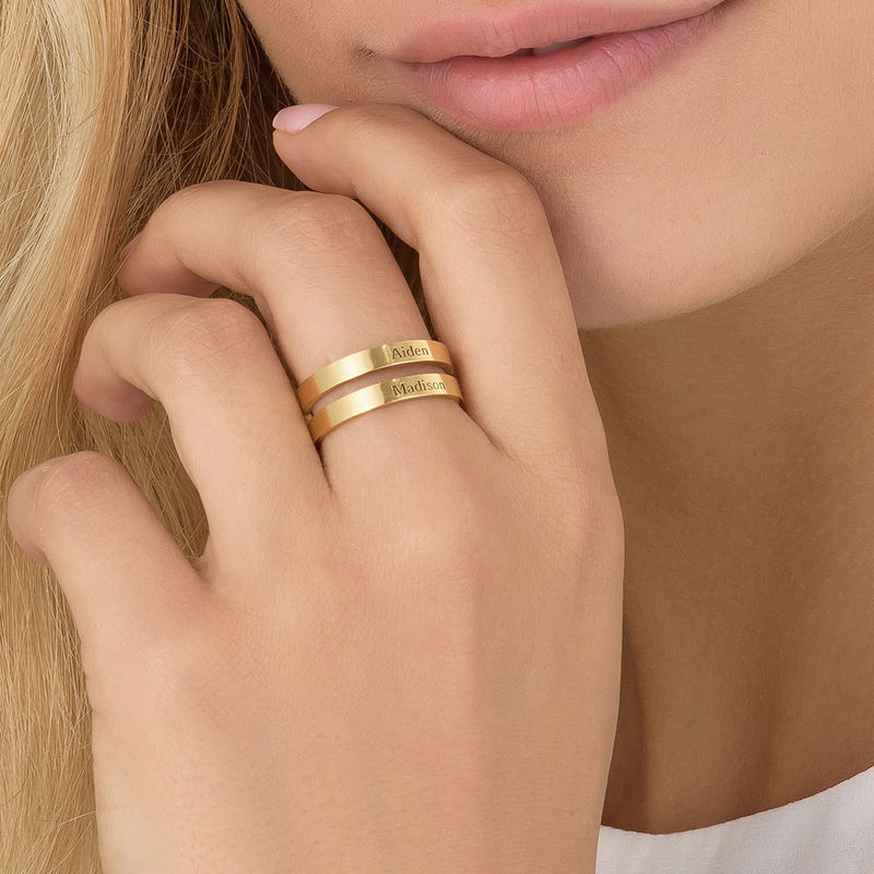 Two Name Ring in Gold Vermeil - 3