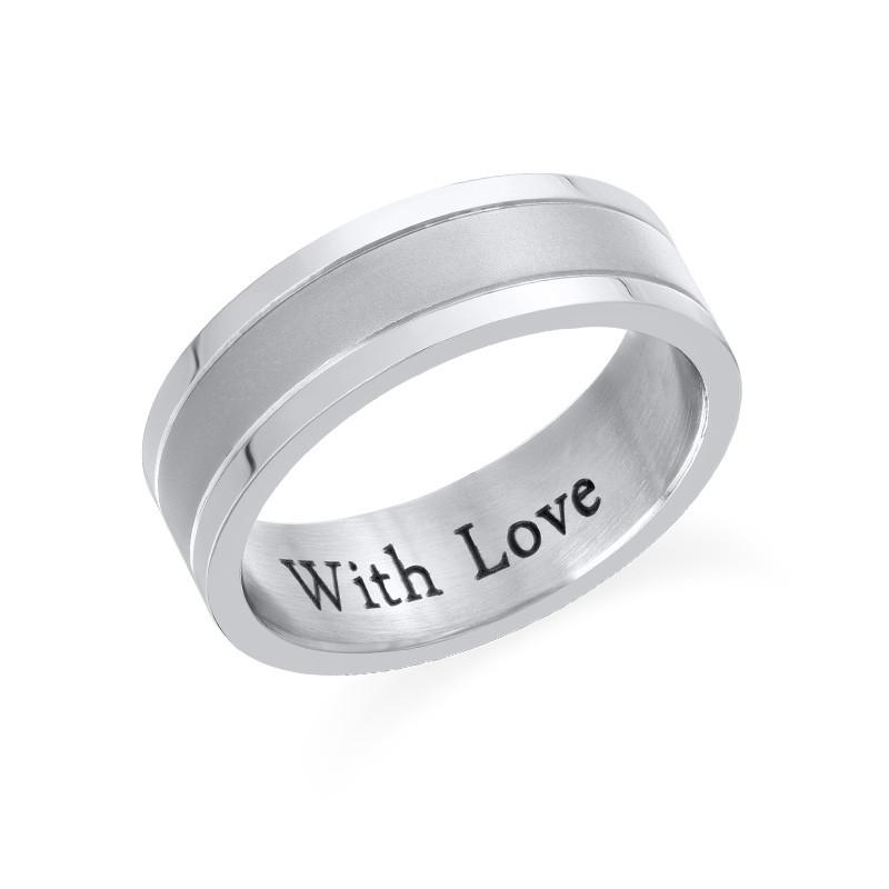 Engraved Stainless Steel Ring for Men